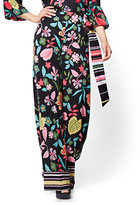 New York & Co. Pull-On Palazzo Pant - Black - Floral