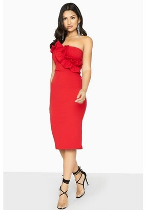 Dorothy Perkins Womens Girls On Film Red Bandeau Dress, Red