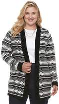 Croft & Barrow Plus Size Fairisle Cardigan Sweater