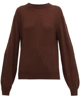KHAITE Viola Crew-neck Cashmere Sweater - Womens - Dark Brown
