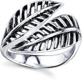 Footnotes Womens Sterling Silver Cocktail Ring