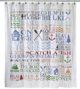Avanti Lake Words Shower Curtain Bedding