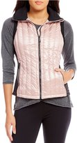 Calvin Klein Down-Filled Quilted Metallic Pearlescent Fabric Vest