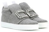 Roger Vivier Sneaky Viv embellished high-top sneakers