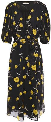 Joie Ervina Wrap-effect Floral-print Silk-chiffon Midi Dress
