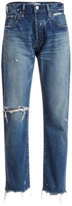 Moussy Guilford High-Rise Straight-Leg Jeans