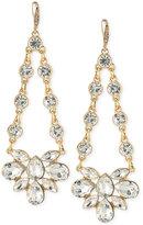 ABS by Allen Schwartz Gold-Tone Crystal Chandelier Earrings