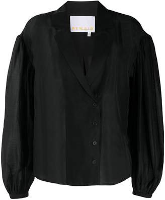 Sheer Buttoned Blouse