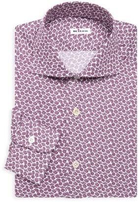 Kiton Contemporary-Fit Mini Flower Print Dress Shirt