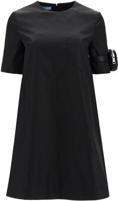 Prada Strapped Pouch T-Shirt Dress