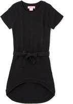 Pink Angel Black Tie-Waist Hi-Low Dress - Girls