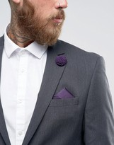 Devils Advocate Pocket Square and Flower Lapel Pin
