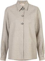 No.21 long sleeved checked shirt
