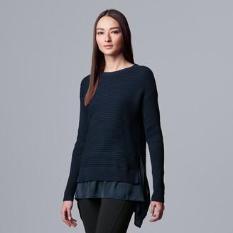 Vera Wang Women's Simply Vera Mixed Media Knitted Tunic