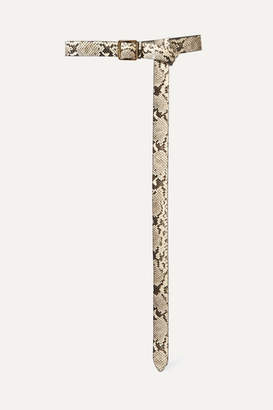 Alexander McQueen Snake-effect Leather Belt - Snake print