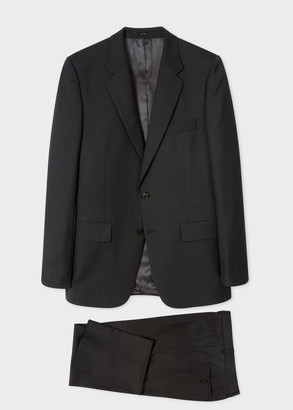 The Mayfair - Men's Classic-Fit Charcoal Wool 'A Suit To Travel In'