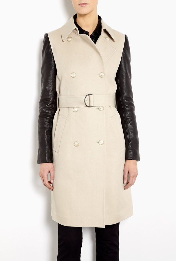 DKNY Cotton Twill Double Breasted Trench Coat