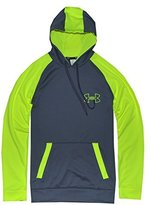 Under Armour Men ColdGear Reflex Outline Hoodie (M, Graphite/High vis yellow)