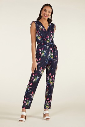 Yumi Tulip Print Cross-Over Jumpsuit