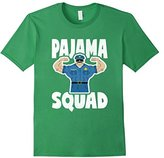Pajama Squad Retro Muscle Police Officer Bed Time PJ T-Shirt