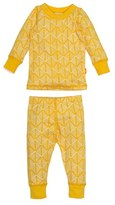 Toddler Masalababy Diamond Hatch Fitted Two-Piece Pajamas