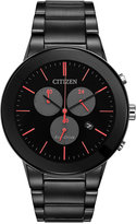 Citizen Men's Chronograph Axiom Black Ion-Plated Stainless Steel Bracelet Watch 43mm AT2245-57F, A Macy's Exclusive