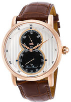Lucien Piccard 40044-RG-02S Men's Infinity Brown Genuine Leather Silver-Tone