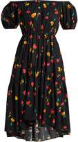 Caroline Constas Bardot floral-print cotton-blend dress