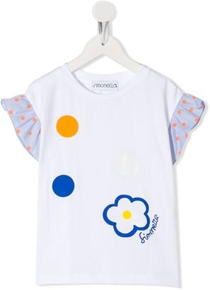 Simonetta ruffled sleeve T-shirt