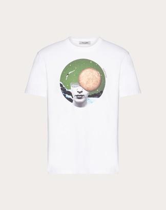 Valentino Soul Planets T-shirt Man White/mercury Cotton 100% L
