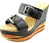 Very Volatile Sandhill Open Toe Leather Wedge Sandal.