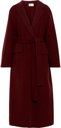 The Row Amoy Belted Cashmere And Wool-blend Felt Coat