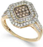 Wrapped in LoveTM White and Brown Diamond Ring in 14k Gold (1/2 ct. t.w.)