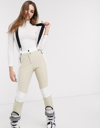 Topshop SNO ski trousers in nude