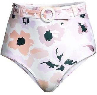 Peony Swimwear Soiree Belted High-Waist Bikini Bottom