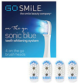 Go Smile On The Go Sonic Blue Replacement BrushHeads S/4