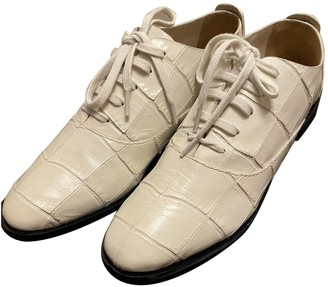 Alexander Wang White Leather Lace ups