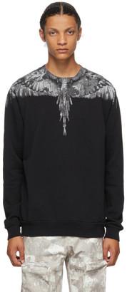 Marcelo Burlon County of Milan Black and Grey Camou Wings Sweatshirt