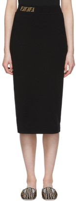 Fendi Black Forever Pencil Skirt