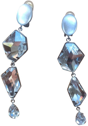 Philippe Ferrandis Silver Crystal Earrings