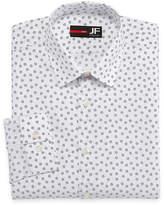Jf J.Ferrar JF  Easy-Care Stretch Long Sleeve Broadcloth Floral Dress Shirt - Slim
