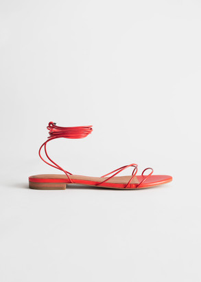 And other stories Leather Lace Up Sandals