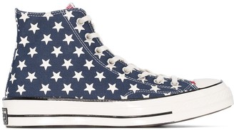 Converse American Flag print high-top sneakers
