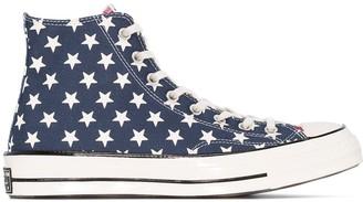 Converse American Flag print high-top sneakers