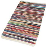 Camilla And Marc EHC 60 x 90 cm 100 Percent Recycled Handmade Cotton Chindi Floor Rug, Multi-Coloured