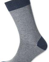 Charles Tyrwhitt Navy waffle socks