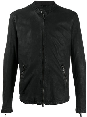 Giorgio Brato Zip-Up Leather Jacket