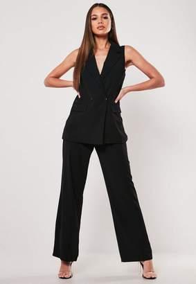 Missguided Petite Black Co Ord Straight Leg Pants