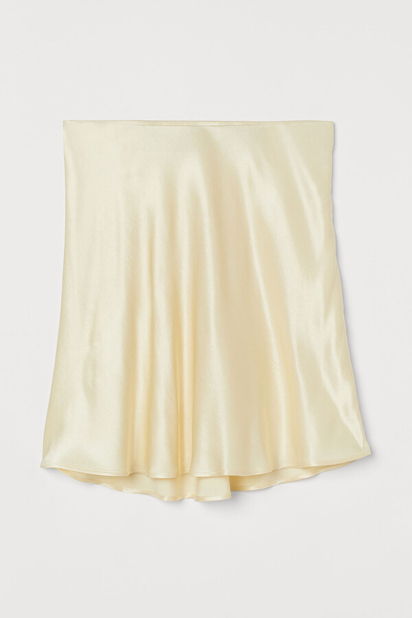 Thumbnail for your product : H&M Short satin skirt