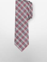 Calvin Klein Steel Large Red Hot Grid Tie
